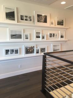 I will be putting in ledges in my art studio Photo Ledge Display, Photo Shelf, Picture Shelves, Picture Ledge, Photo Displays, Bedroom Photos, Bedroom Ideas, Bedroom Decor, Wall Decor