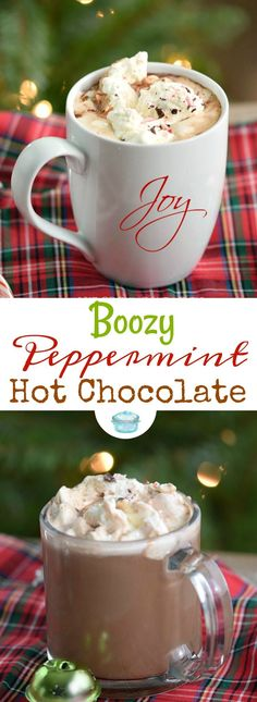 Warm up this holiday season with a mug of rich and delicious Boozy Peppermint Hot Chocolate! I have included 3 different ways to make the perfect cocktail. Holiday Drinks, Holiday Desserts, Holiday Recipes, Christmas Cocktails, Holiday Parties, Christmas Entertaining, Holiday Foods, Party Drinks, Christmas Recipes