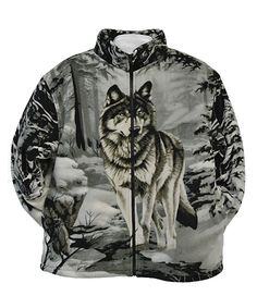 This Gray Wolf Fleece Jacket - Boys & Men by Trail Crest is perfect! #zulilyfinds