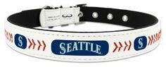 Seattle Mariners Classic Leather Medium Baseball Collar