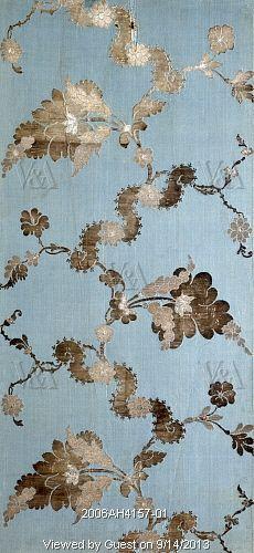 Woven silk, by Anna Maria Garthwaite. London, England, 1742