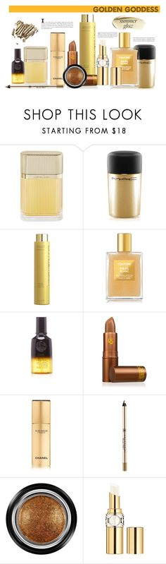 """summer glow"" by noticeably-subtle ❤ liked on Polyvore featuring beauty, Cartier, MAC Cosmetics, Space NK, Tom Ford, Oribe, Lipstick Queen, Chanel, Anastasia Beverly Hills and Giorgio Armani"