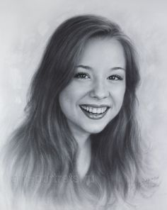 Realistic Drawings Portrait drawing actress Brittney Karbowski 2017 by Dry Brush/ Artwork by Igor Kazarin -