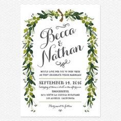 Love vs Design - Wreath Wedding Invitations