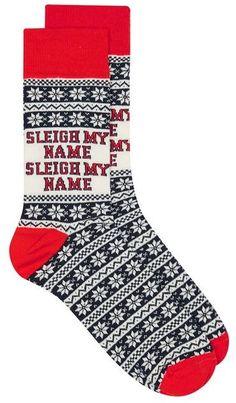 Black Christmas 'Sleigh My Name' Socks