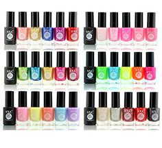 SXC Cosmetics 36 Color Gel Effect Nail Lacquer No UVLED Light Needed Professional Quality  Quick Dry14ml047 Fluid Ounce Each Perfect Gift for Holiday ** Continue to the product at the image link. Note:It is Affiliate Link to Amazon.