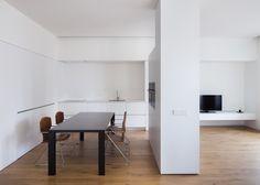 #House #Interiors #Kitchen #Minimal #AllWhite #White #DotPartners  #Viabizzuno #Stua #Valencia