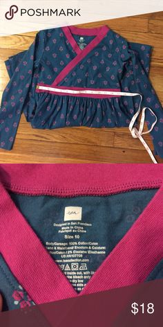 Girls Tea dress Size girls 10 tea dress. Great condition. Pinkish-purple and blueish green color with floral print Tea Collection Dresses Casual