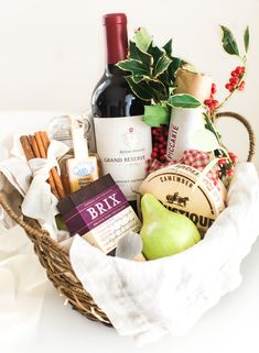 Amazing diy wine gift baskets ideas Candy Bouquet Dont Show Up To Your Holiday Party Empty Handed Learn How To Make Kendalljackson Holiday Gift Basket Wine Stopper Diy Alcohol Gift Baskets, Food Gift Baskets, Wine Baskets, Chocolate Gift Baskets, Diy Holiday Gifts, Christmas Baskets, Christmas Gift Baskets, Wine Gifts, Food Gifts