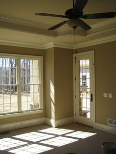Master bedroom - Love the crown and ceiling. Perfect