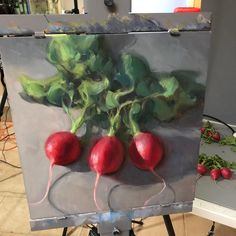 """Bryan Mark Taylor on Instagram: """"Day 23 @strada.easel 30 day challenge. I know radishes aren't everyone's favorite snack but they sure are pretty! Sign up for my still life…"""""""