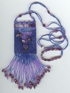 I ❤ beading . . . stunning beadwork- Amulet Necklace by Fiberdabbler