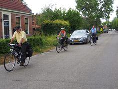 Op de fiets door de provinsie Groningen. The Netherlands