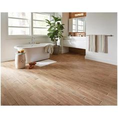 MARAZZI Montagna Soft Maple 4 in. x 28 in. Glazed Porcelain Floor and Wall Tile (9 sq. ft. / case)-UGC2428HD1PR - The Home Depot