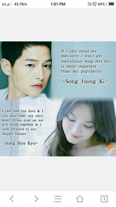 Hope they will always stay together no matter what happen,may god bless them and give a hAppy long life TOGETHER. Songsong Couple, Best Couple, Descendants, Decendants Of The Sun, Song Joon Ki, Sun Song, Korean Drama Quotes, Love In Islam, Drama Fever