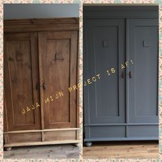 Antika svarta tavla skåpet av Pure & Original i Oxford Blue, . Old Furniture, Paint Furniture, Furniture Makeover, Furniture Refinishing, Oxford Blue, Sweet Home, New Homes, Pure Products, Decoration