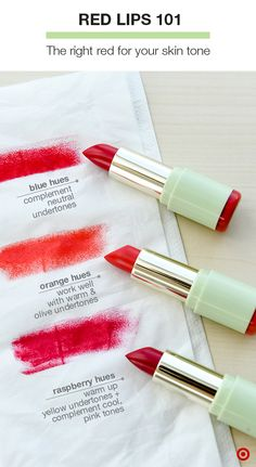 """For many, finding the """"perfect red"""" seems like a never-ending quest. Look no further than these new Matteluster Lipsticks from Pixi. From Classic Red to Coral Red to Raspberry Blush, each shade is rich in peptides, hyaluronic acid, and vitamins C & E for fuller, smoother lips. The demi-matte finish and concentrated pigments offer long-lasting, true hues. Shop the Pixi Matteluster collection:"""