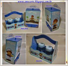 Kit bebê marinheiro - mdf http://www.amocarte.blogspot.com.br/