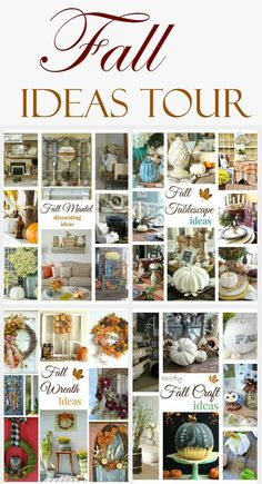 31 Ideas for Fall - Mantels, tablescapes, wreaths and crafts. 2 Bees in a Pod