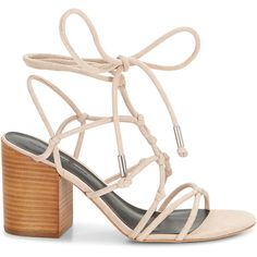 Rebecca Minkoff Carmela Sandal (€165) ❤ liked on Polyvore featuring shoes, sandals, sexy sandals, lace up block heel sandals, lace up shoes, sexy strappy sandals and tie shoes