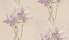 Barrington (NCW4067-02) - Nina Campbell Wallpapers - A scattering of colourful stylised blossom. Showing in Lilac - other colour ways available. Please request a sample for true colour match.