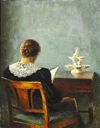 P. V. Ilsted, Γυναίκα που διαβάζει. 1925. Ιδιωτική Συλλογή.