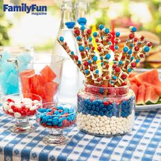 Sweet & Salty Sparklers: Layered with white chocolate and studded with sprinkles and M&M's, our pretzel treats add flare to any party spread.