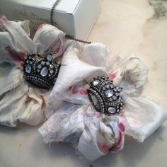 Crown brooch - Rachel Ashwell Shabby Chic Couture