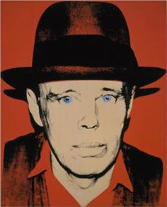 Andy Warho, Portrait of Joseph Beuys, Silkscreen Ink on Synthetic Canvas Andy Warhol Prints, Andy Warhol Portraits, Andy Warhol Museum, Andy Warhol Pop Art, Beuys Joseph, James Rosenquist, Neo Dada, Pop Art Movement, Jasper Johns