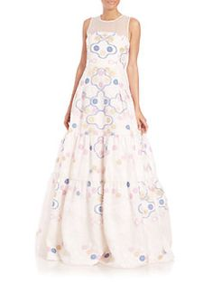 Peter Pilotto - Phaidra Embroidered Gown