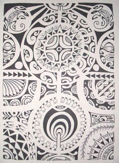 maori designs and patterns | ... Suns & Typical Models designed on a drawing with Maori Pattern
