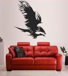 kik1485 Wall Decal Sticker Eagle soaring bird tattoo style bedroom living room