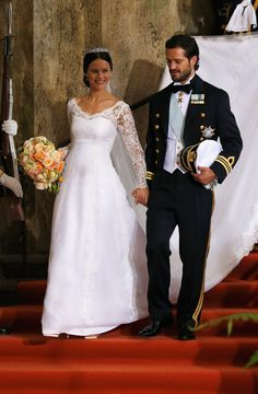 Crown Princess Victoria of Sweden and her husband Prince Daniel of Sweden depart the royal wedding of Prince Carl Philip of Sweden and Sofia Hellqvist at The Royal Palace on June 2015 in. Get premium, high resolution news photos at Getty Images Royal Wedding Outfits, Royal Wedding Gowns, Royal Weddings, Princess Wedding Dresses, Wedding Bride, Wedding Ceremony, Lace Wedding, Princess Sofia Of Sweden, Princess Victoria Of Sweden