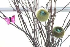 Tutorial : Needle Felted Spring Nest - The Magic Onions