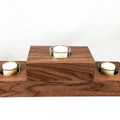 Rustic Tiered Candle Holder  Table Centerpiece  by pieceofshards