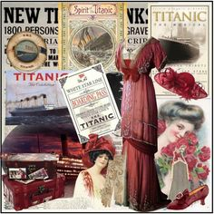 """"""" Memories of the Titanic """" ~ won Third Place, created by victorianheaven on Polyvore.  Great Period Pieces."""