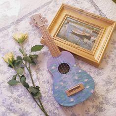 Easily Learn The Ins And Outs Of Guitar Playing – Learning Guitar Ukulele Art, Cool Ukulele, Guitar Art, Ukulele Songs, Violin, Painted Ukulele, Painted Guitars, Ukulele Design, Cute Surprises
