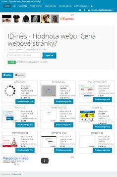 Hodnota webu - odhad ceny webové stránky / domény on-line