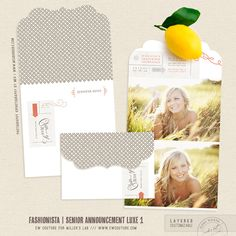 Senior Announcements LUXE - Fashionista - http://store.millerslab.com/collections/ew-couture/products/mt50-1153