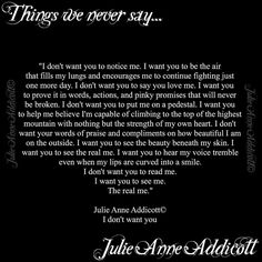 "22 Likes, 2 Comments - Julie Anne Addicott ~ Author (@demonsoulangelheart) on Instagram: ""#thingsweneversay #poet #poem #poetry #writer #prose #author #julieanneaddicott #despair #pain…"""