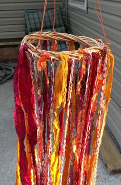 Gypsy Boho Yarn Mobile Wall Art In Sun Colors by SpiritualPathways, $15.00