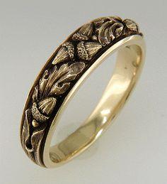 oak leaf wedding ring - Google Search