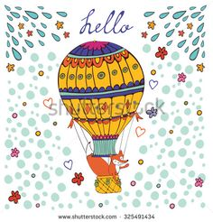 Find Cute Hello Card Hot Air Balloon stock images in HD and millions of other royalty-free stock photos, illustrations and vectors in the Shutterstock collection. Thousands of new, high-quality pictures added every day. Cot Quilt, Quilts, Cool Kids, Fox Illustration, Baby Boy Nurseries, Quilt Cover, Hot Air Balloon, Digital Prints, Pillow Cases