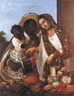 Multiracial (Black and Multiracial) family depicted in a 1763 Spanish colonial caste painting by Miguel Cabrera | Flickr - Photo Sharing!