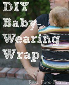 baby wearing wrap on pinterest