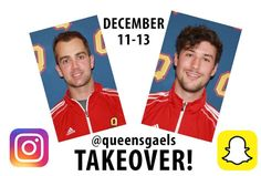 Be sure to follow @queensgaels on Snapchat and Instagram as  Spencer Abraham and Kevin Bailie are doing a takeover Dec. 11-13 as they take part in the U Sports vs Canadian World Juniors series!  #USports #Canada #Hockey