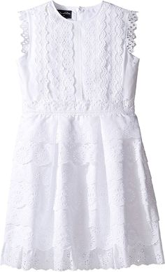 Oscar de la Renta Childrenswear Womens Cotton Eyelet Dress (Toddler/Little Kids/Big Kids)   She'll be perfectly pristine in the Oscar de la Renta Childrenswear Cotton Eyelet Sundress. Read  more http://shopkids.ca/oscar-de-la-renta-childrenswear-womens-cotton-eyelet-dress-toddlerlittle-kidsbig-kids/
