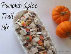 pumpkin spice trail mix -- a must try!  Simple and easy!  Perfect for fall parties and tail gates!
