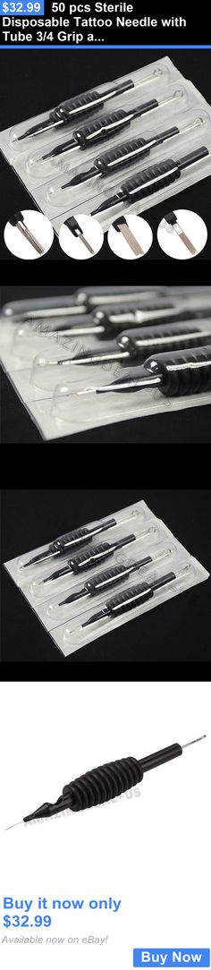 Tattoo Supplies: 50 Pcs Sterile Disposable Tattoo Needle With Tube 3/4 Grip And Tip ---- U-Pick BUY IT NOW ONLY: $32.99