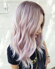 Light blonde and Pastel pink